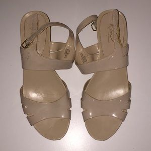 Kim Rogers Nude Wedges size 9.5